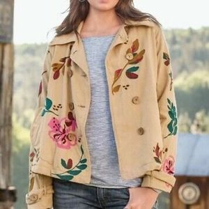 Sundance Embroidered Floral Swing Cotton Jacket